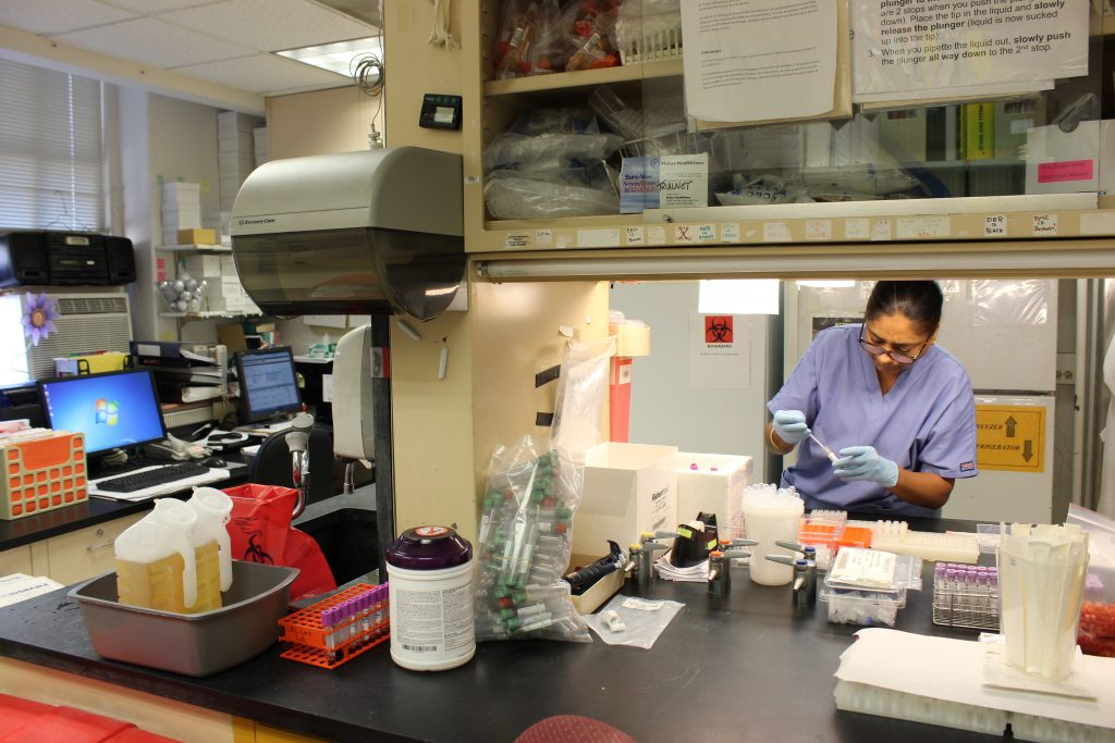 CRC's Core Lab provides the space, equipment, and personnel to collect, process, and send samples to PIs.