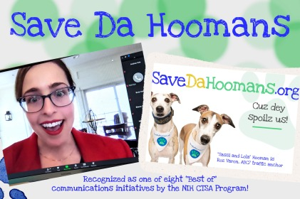 "NIH CTSA Meeting Recognizes Save Da Hoomans as ""Best of"" Communications Initiative"